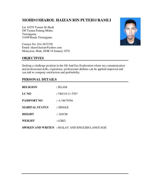 MOHD@SHAROL HAIZAN BIN PUTEH@RAMLI Lot 10255 Taman Sri Budi, Off Taman Padang Midin, Terengganu, 21400 Kuala Terengganu. C...