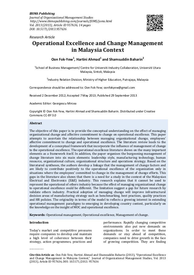 Change management literature review