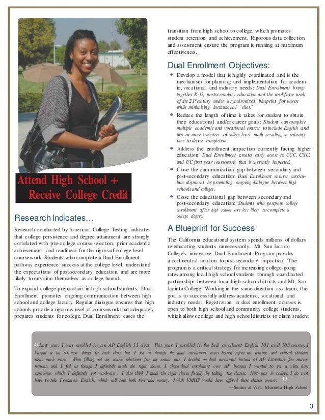 dual registration coursework