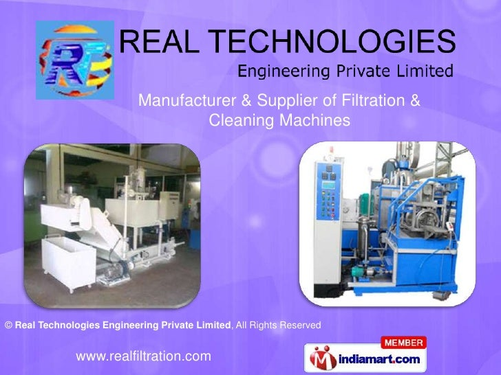 Manufacturer & Supplier of Filtration &<br />Cleaning Machines<br />