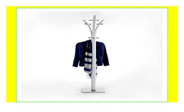 wei/ß lackiert Fu/ß mit Edelstahlblech IDIMEX Garderobenst/änder Kleiderst/änder 9 Kleiderhaken Metall