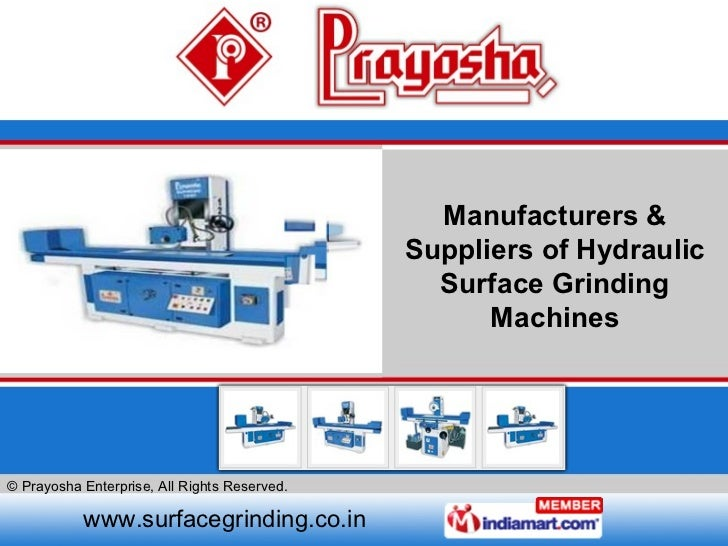 Manufacturers & Suppliers of Hydraulic Surface Grinding Machines