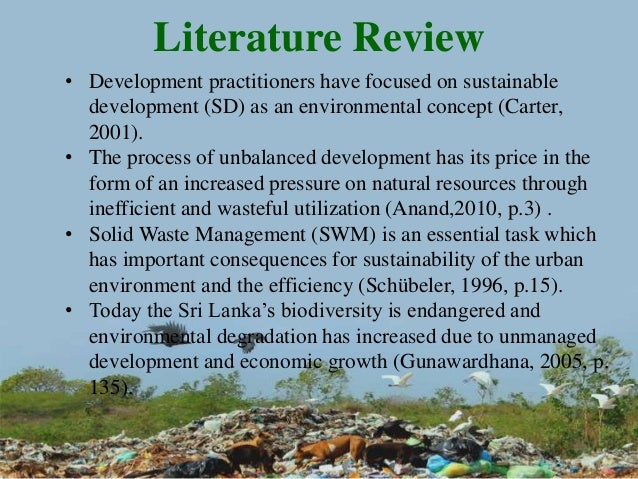 Review Of Literature Of Natural Resources