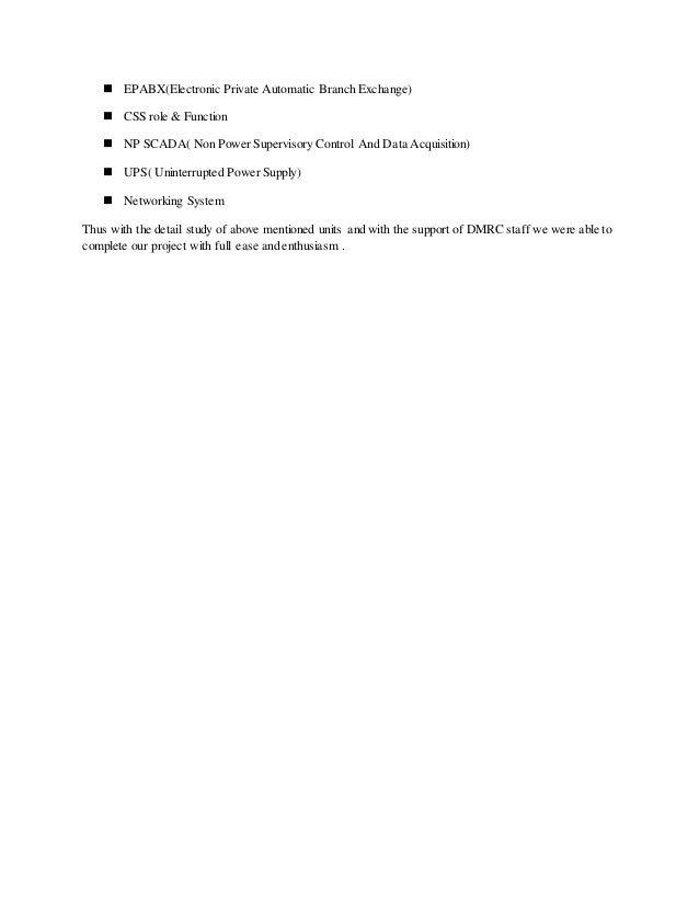 Dmrc College Report