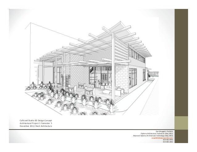 Nice ... 11. Café And Studio 3D Design Concept Architectural ...