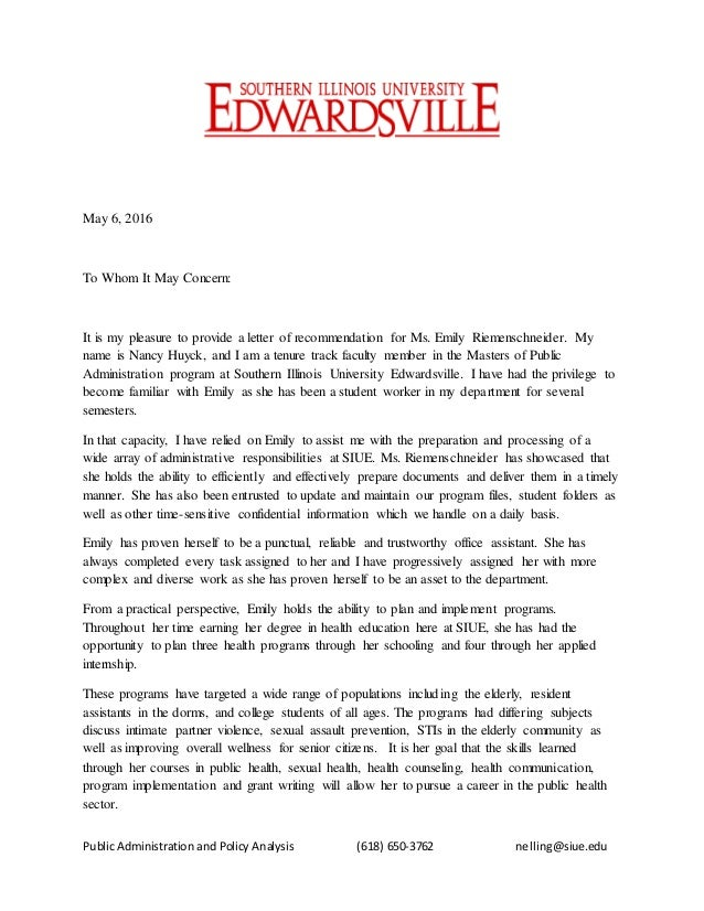 letter of recommendation for tenure