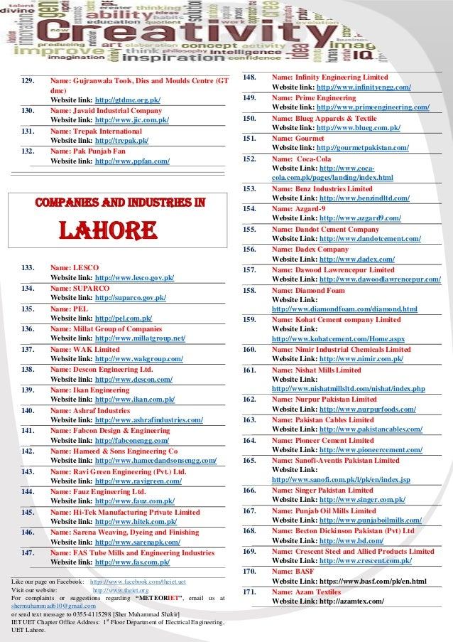 List of Industries and Companies in Pakistan, IET-NEWS