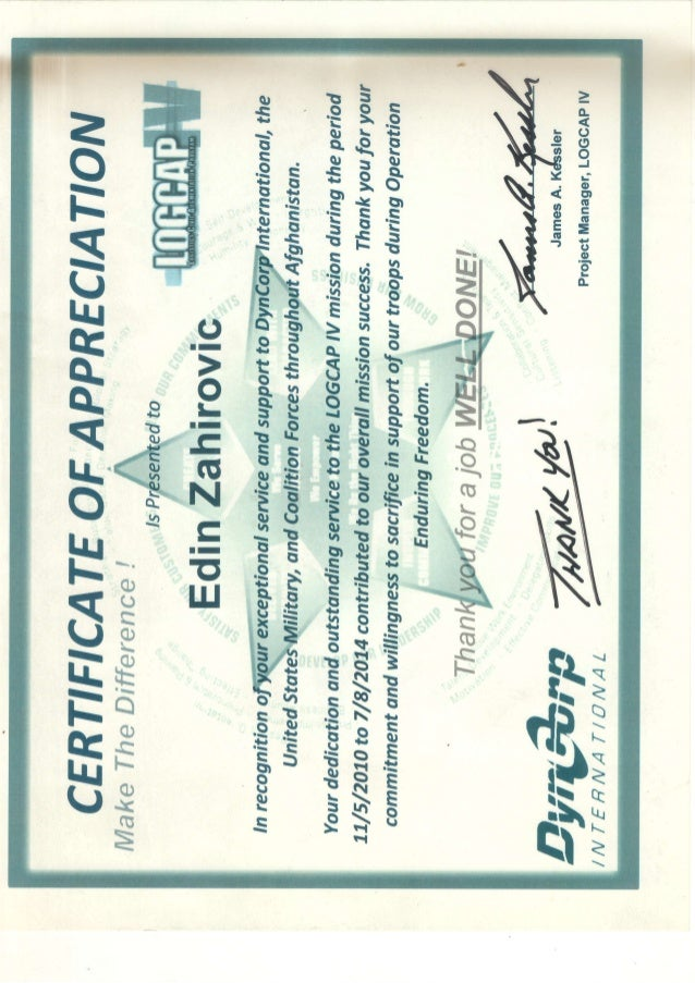 Certificate of appreciation of project manager on logcap ivpdf pdf o e y o o ea o o o oj l o ctt yadclub Image collections