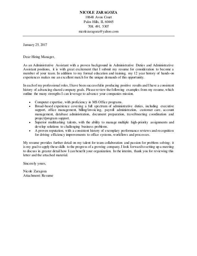 Administrative Assistant Cover Letter 2017 from image.slidesharecdn.com