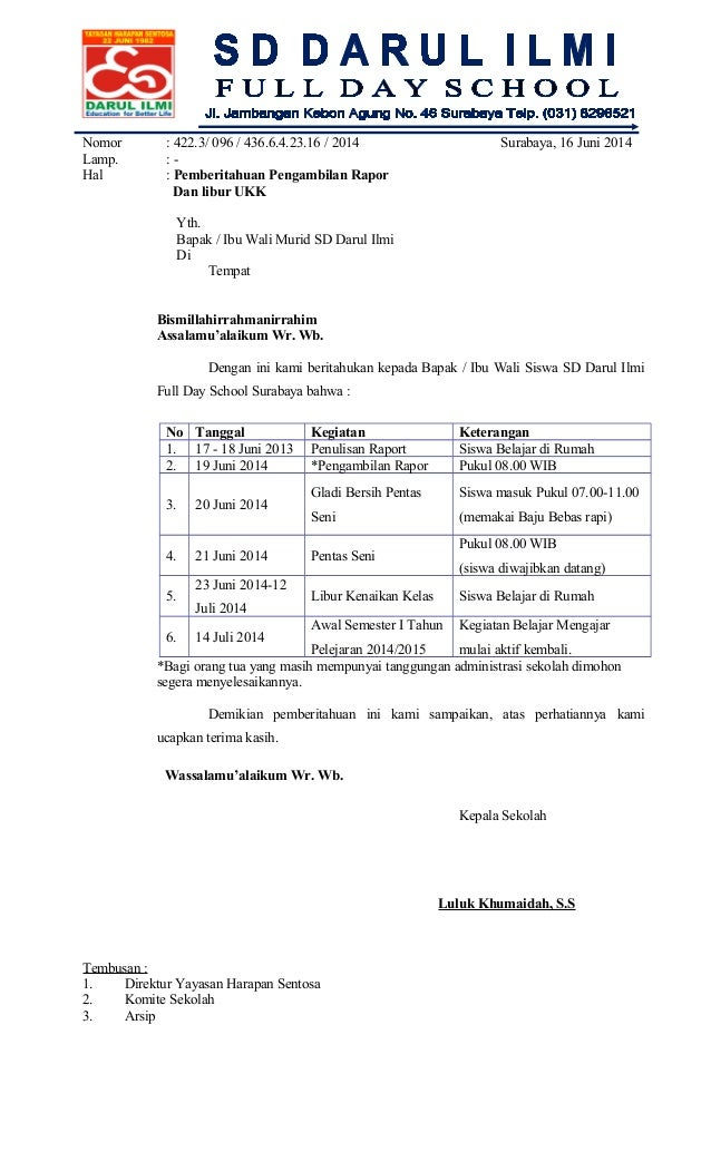 96undangan Penerimaan Raport Uas Ii 2013 2014