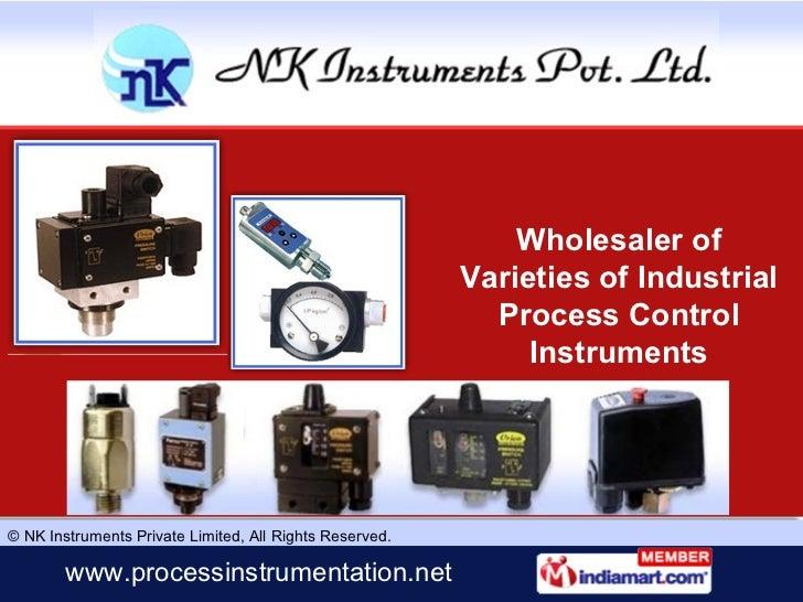 Wholesaler of Varieties of Industrial Process Control Instruments