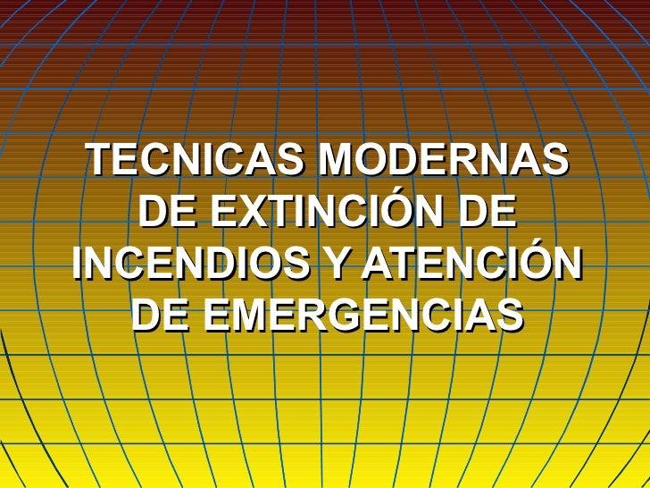 96040525 tecnicas modernas de extincion de incendios y for Tecnicas culinarias modernas