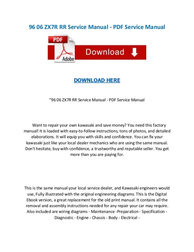 96 06 zx7 r rr service manual pdf service manual  Zx R Wiring Diagram on