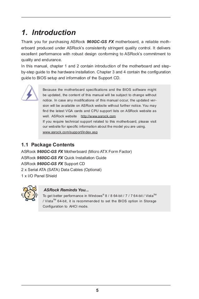 ASROCK 960GC-GS FX AMD AHCI DRIVER