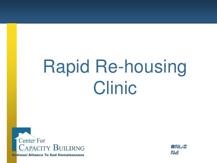 Rapid Re-housing<br />Clinic<br />ONLINE<br />