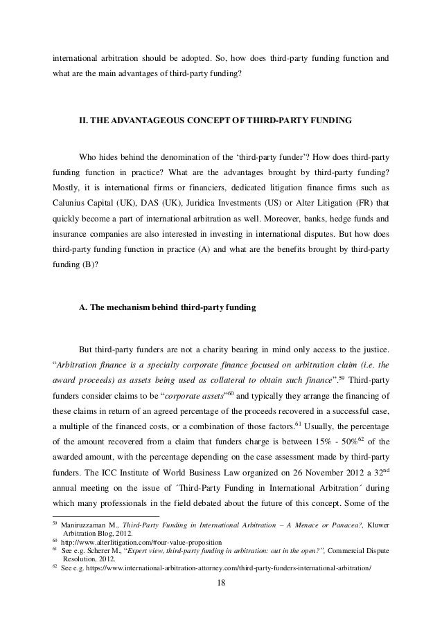 Thesis proposal for international arbitration law