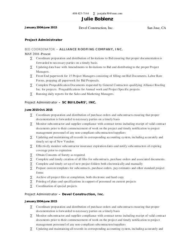 Julie Boblenz Resume