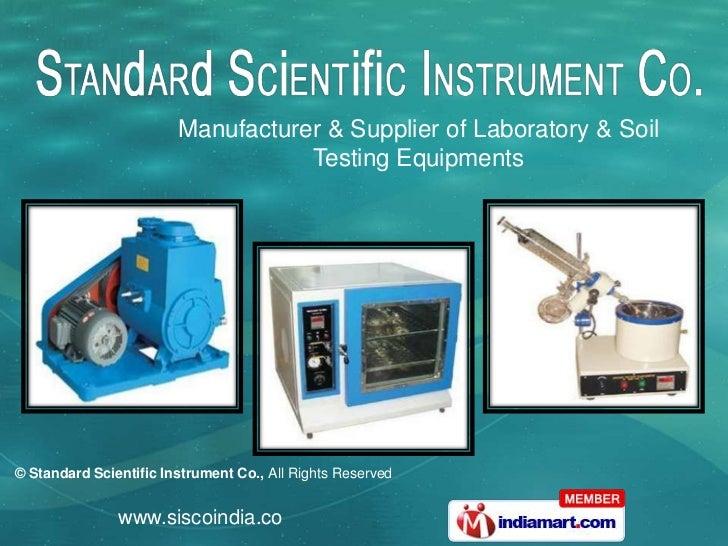 Manufacturer & Supplier of Laboratory & Soil <br />Testing Equipments<br />