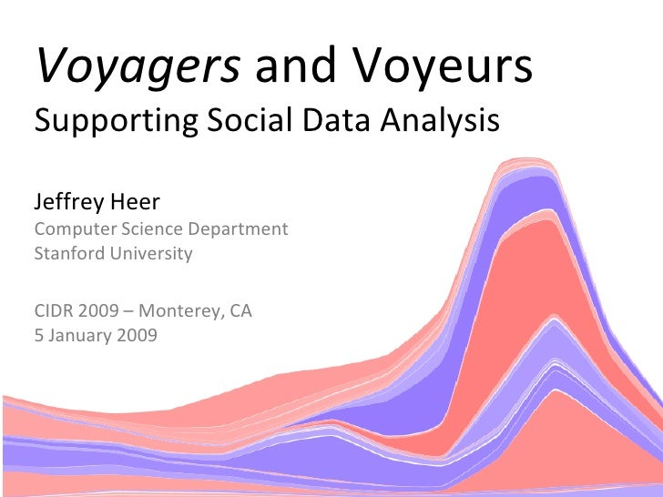 Voyagers and Voyeurs Supporting Social Data Analysis  Jeffrey Heer Computer Science Department Stanford University  CIDR 2...