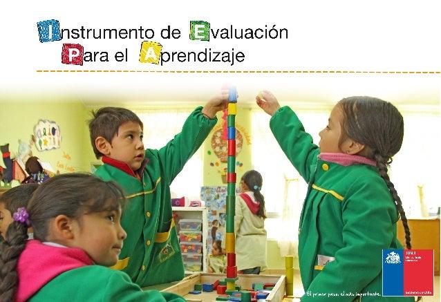 I nstrumento de E valuación P ara el Aprendizaje