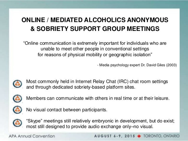 Sobriety chat rooms