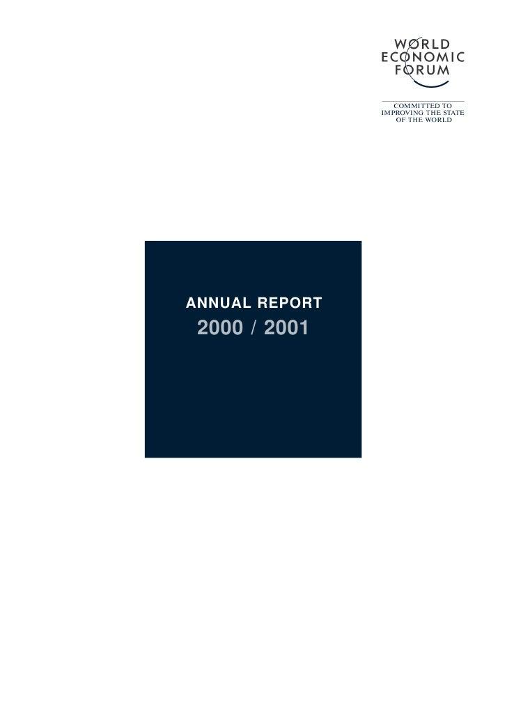 ANNUAL REPORT  2000 / 2001
