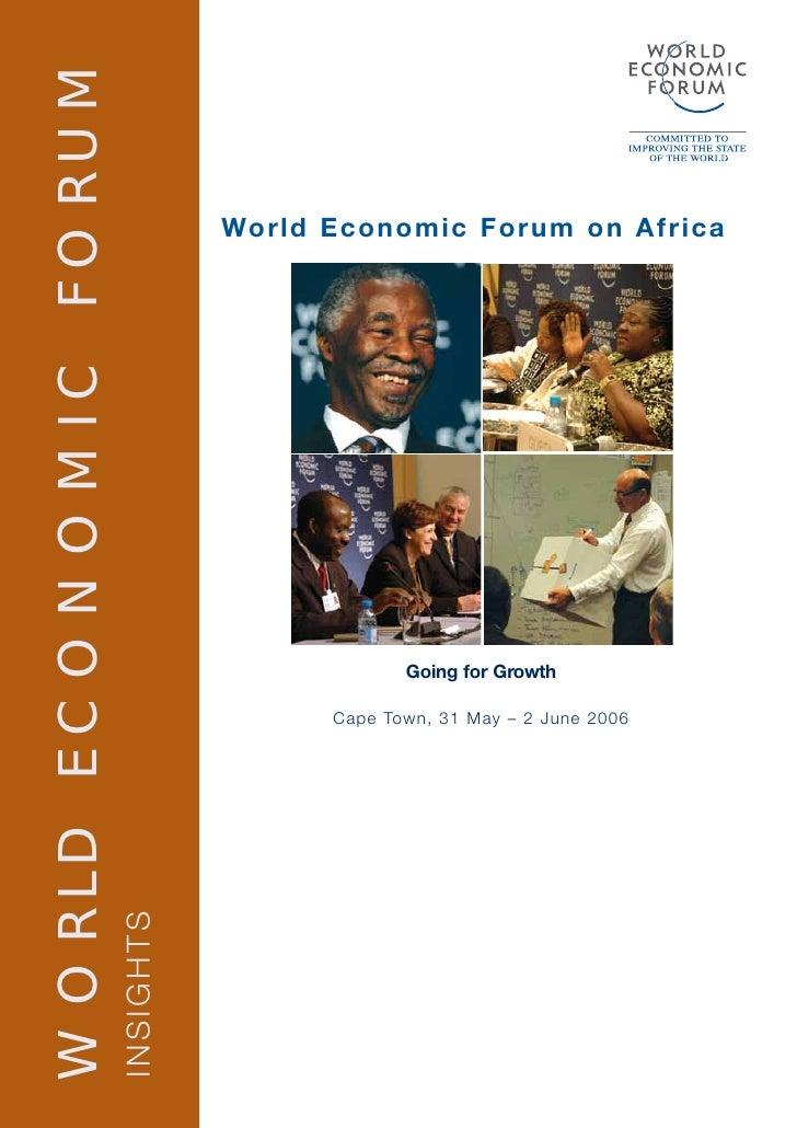 WORLD ECONOMIC FORUM                                    World Economic Forum on Africa                                    ...