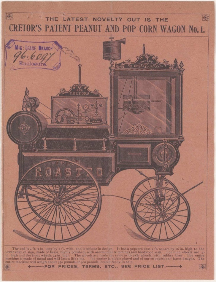 Application for a Popcorn and Peanut Wagon, 1896