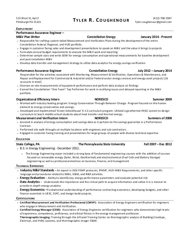 Tyler Coughenour Resume