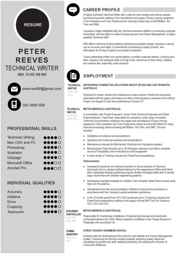 Peter Reeves Resume Nov 2014