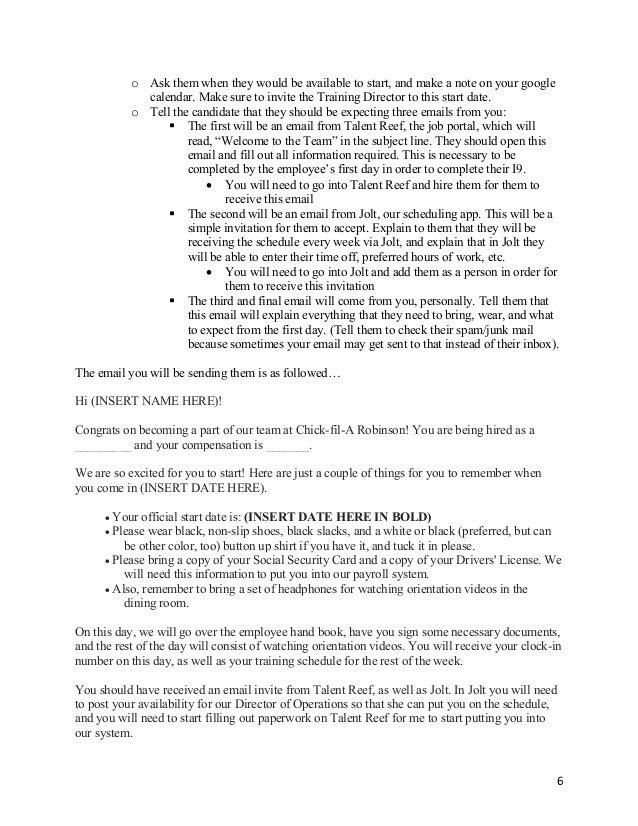 HR:Recruitment Director's Manual