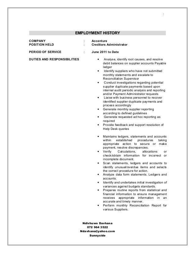 Famous Resume Accenture Collection - Best Student Resume Examples ...