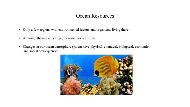Marine resources.