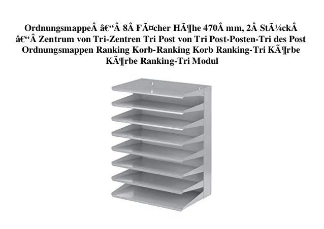 Ordnungsmappe–8Fächer Höhe 470mm, 2Stück–Zentrum von Tri-Zentren Tri Post von Tri Post-Posten-Tri des...