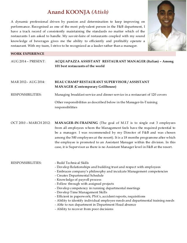 Anand koonja resume anand koonja atish a dynamic professional driven by passion and determination to keep improving yelopaper Image collections