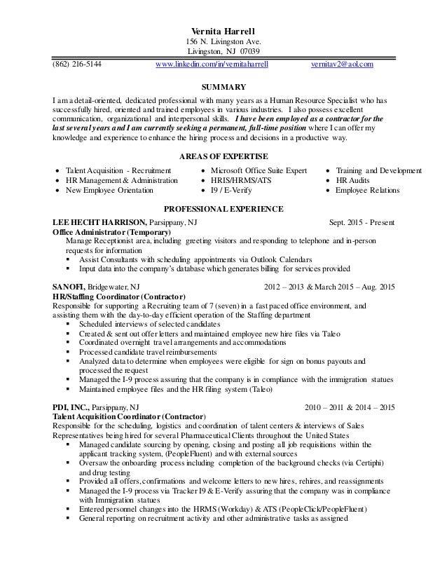 Vernita S Updated Resume Recruiter Experience