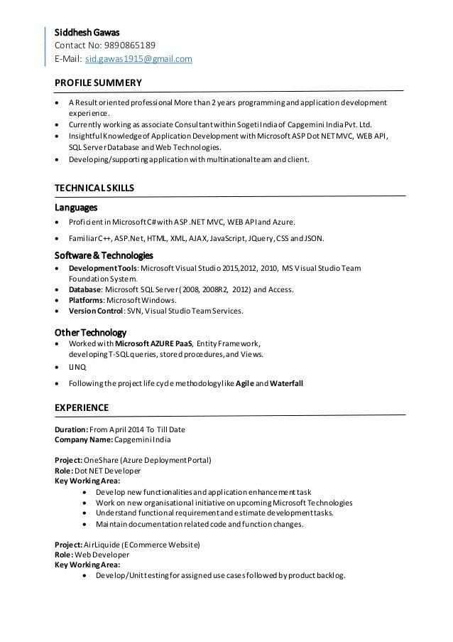 Siddhesh Simple Resume