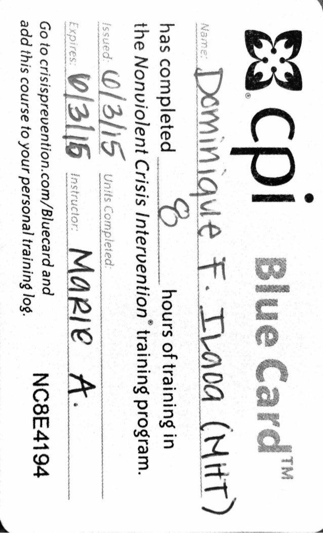 Cpi Certification Di