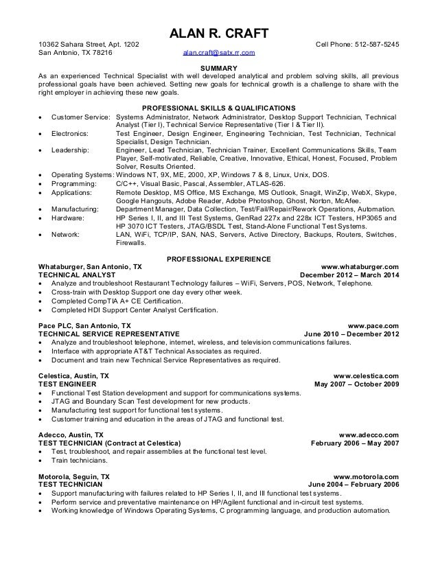 Craft Resume