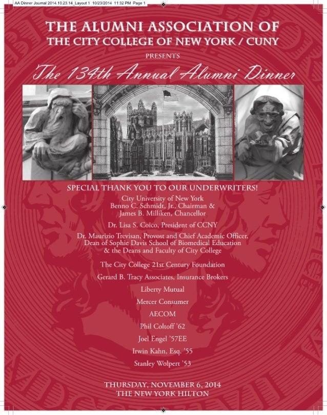 2014 Alumni Dinner Journal