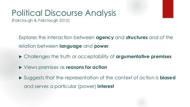 Ideology and Political Discourse Analysis