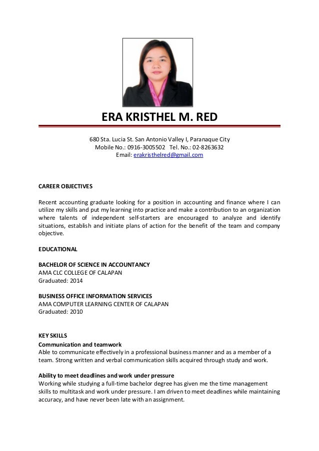 Updated Era Kristhel Resume
