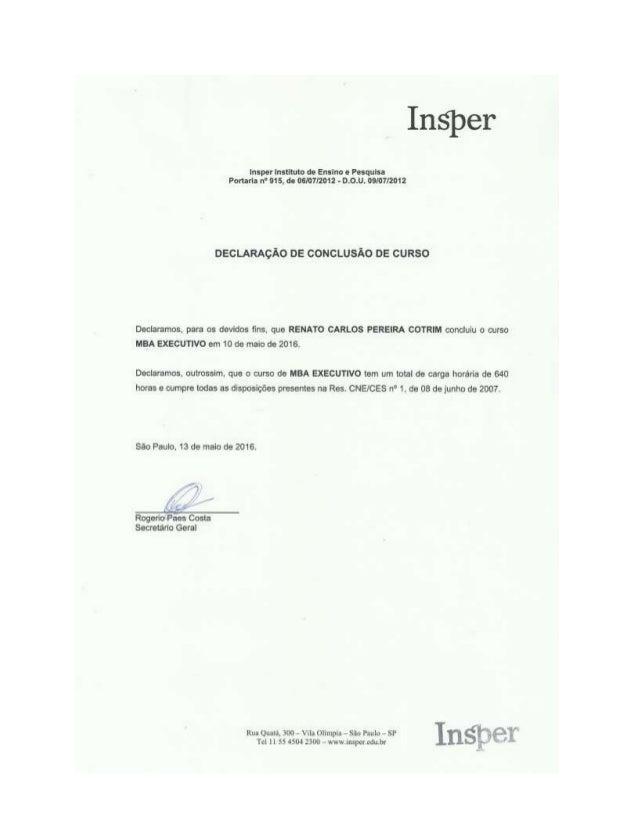 Conclusão MBA Insper