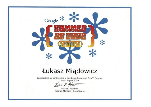 Google-SummerOfCode-Certificate