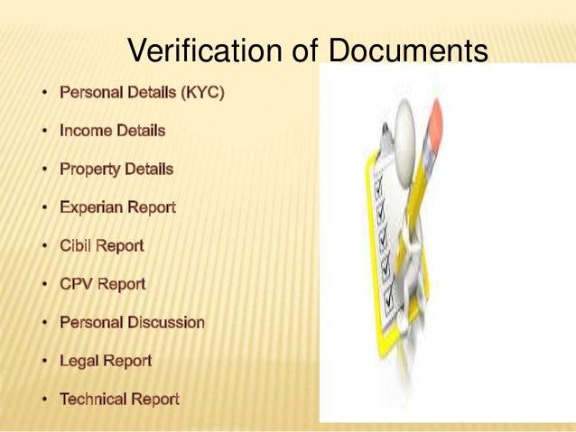 Verification of Documents