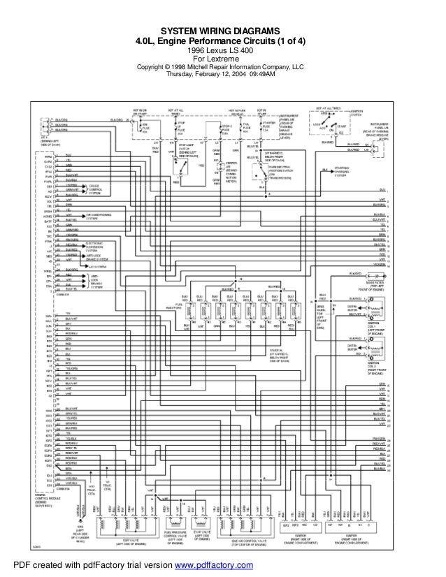 SYSTEM WIRING DIAGRAMS                              4.0L, Engine Performance Circuits (1 of 4)                            ...