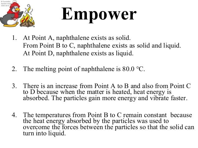melting point of impure naphthalene
