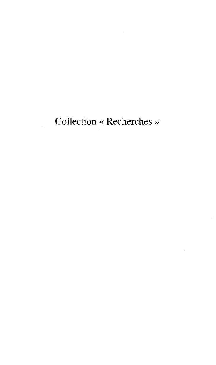 Collection << Recherches   >>.