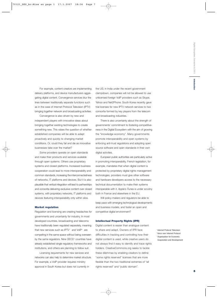 Digital Ecosystem: Scenarios to 2015 Introduction                                                                         ...
