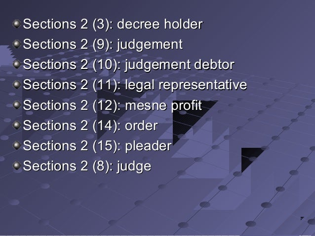 decree holder meaning